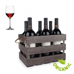 ORGANIC RED ITALIAN WINE - 6 BOTTLES BOX