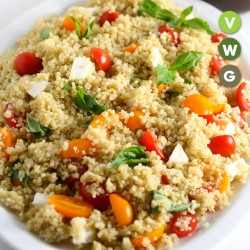 QUINOA SALAD WITH CHEESE