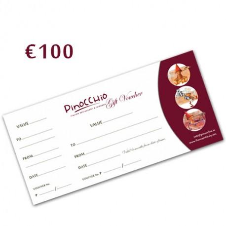 PINOCCHIO RESTAURANT GIFT VOUCHER 100€