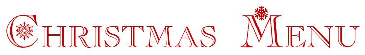 Christmas menu 2015
