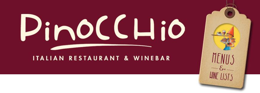 pinocchio restaurant menu top