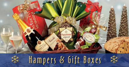 Christmas hampers and gift boxes