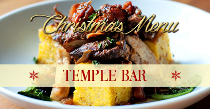 Christmas menu temple bar