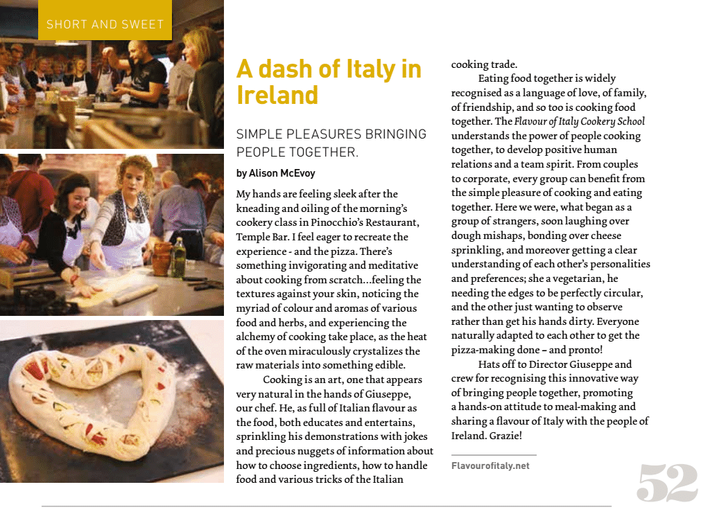 A dash of Italy in Ireland