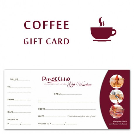 COFFEE GIFT CARD - 10 Coffees