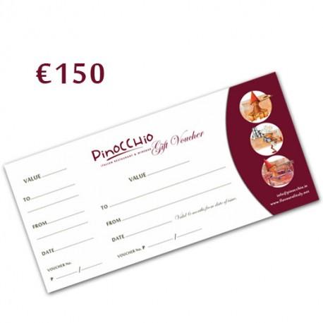 PINOCCHIO RESTAURANT GIFT VOUCHER 150€