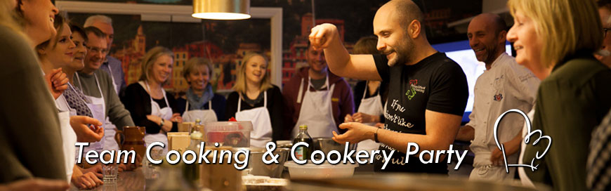 team cooking and cookery party