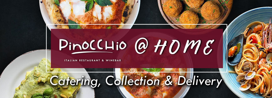 Pinocchio catering, collection, delivery