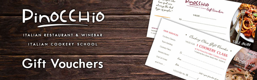 pinocchio restaurant and cookery school gift vouchers