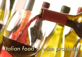 Italian food and wine products