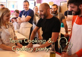 Team cooking and cookery parties